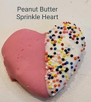 Peanut Butter Sprinkle Heart